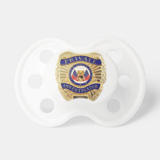 Private Investigator Badge Pacifier