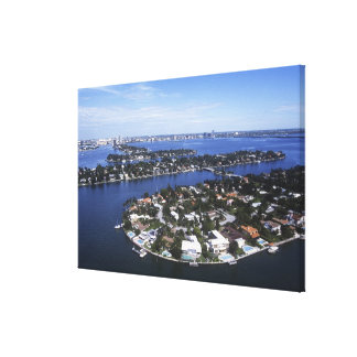 Private Island homes of Biscayne Bay, Star Stretched Canvas Print