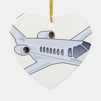 Private Jet Ceramic Ornament