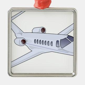 Private Jet Metal Ornament