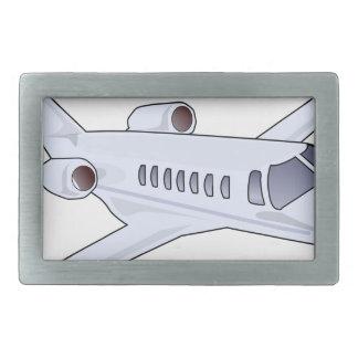 Private Jet Rectangular Belt Buckle
