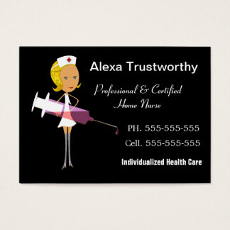 Private Nurse Professional Large Business Card