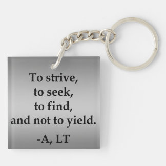Private Order with Gradient Gray Background Keychain