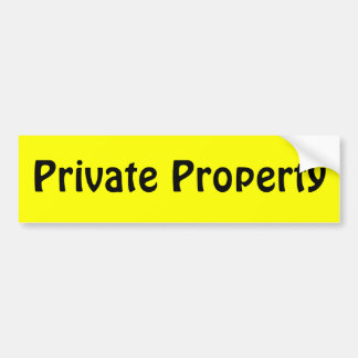 Private Property Bumper Sticker