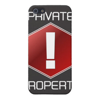 PRIVATE PROPERTY iPhone 5 COVER