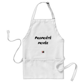 Private property - Word games - François City Standard Apron