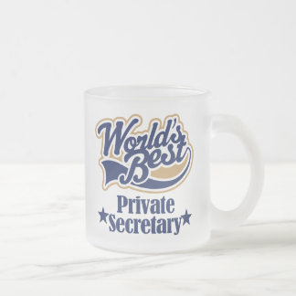 Private Secretary Gift For (Worlds Best) Frosted Glass Coffee Mug