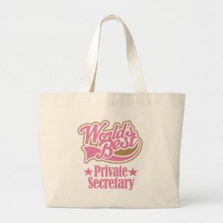 Private Secretary Gift (Worlds Best) Jumbo Tote Bag