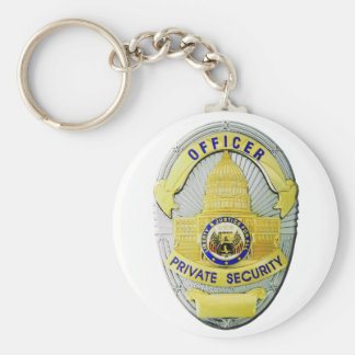 Private Security Basic Round Button Keychain