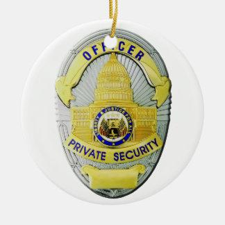 Private Security Ceramic Ornament