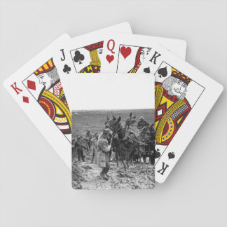 Private Shook trying to move mules_War image Playing Cards