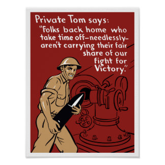 Private Tom -- World War Two Poster