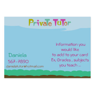 Private Tutor Business Card Templates