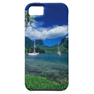 Private yachts anchored in Opunohu Bay on the iPhone 5 Cases