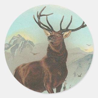 Prize Elk Classic Round Sticker