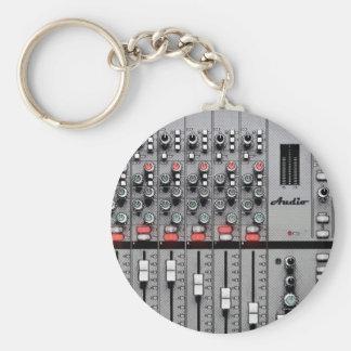 Pro Audio Mixer Basic Round Button Keychain