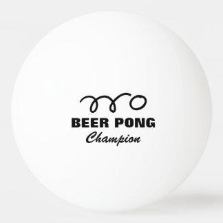 Pro beer pong champion ping pong balls