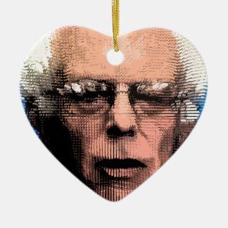Pro-Bernie Sanders 2016 Ceramic Heart Ornament