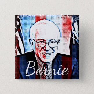 Pro Bernie Sanders Support Digital Art Button