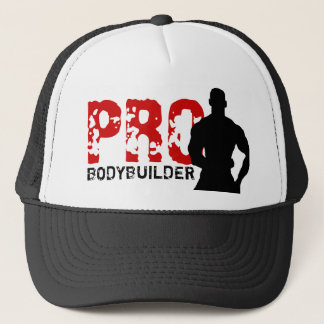 Pro Bodybuilder Red & Black Hat