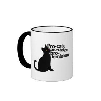 pro-cats pro-choice pro-feminism coffee mug