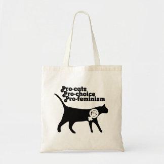 Pro Cats pro Choice pro Feminism Tote Bag