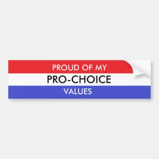 Pro-Choice Bumper Sticker