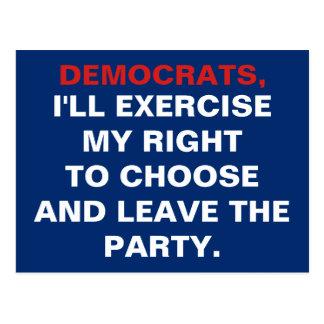 Pro-Choice Democrats Postcard