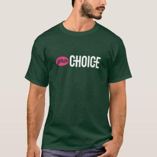 Pro-Choice Unisex Basic Forest T-Shirt: Pink/White T-Shirt
