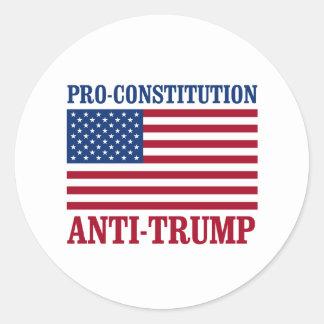 Pro-Constitution Anti-Trump - Anti-Trump - Classic Round Sticker