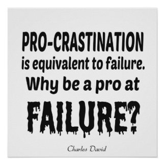Pro-crastination Poster