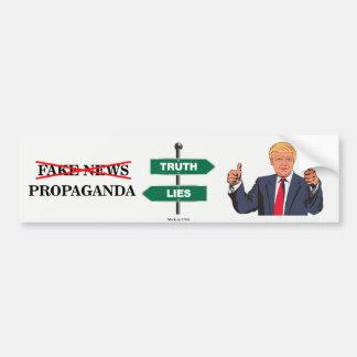 Pro Donald Trump Anti-Fake News Bumper Sticker