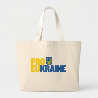 Pro EU Pro Ukraine Large Tote Bag