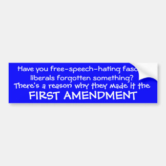 Pro first amendment bumper sticker