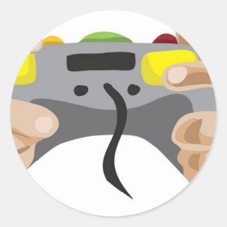 pro gamer!  Customizable: Classic Round Sticker