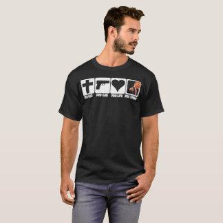 Pro God... Guns... Life... TRUMP on dark fabric T-Shirt