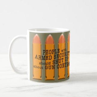 Pro-gun message on coffee mug