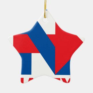 "Pro Hillary Clinton ""I'm with Nasty"" Ceramic Star Ornament"