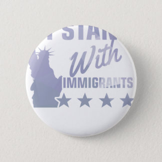 Pro immigration statue of liberty shirt 2 inch round button