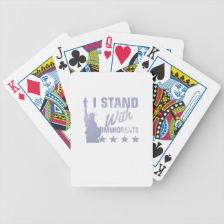 Pro immigration statue of liberty shirt bicycle playing cards