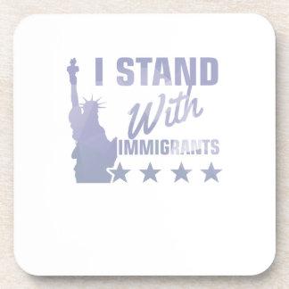 Pro immigration statue of liberty shirt coaster