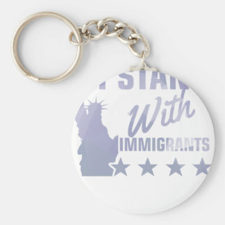 Pro immigration statue of liberty shirt keychain