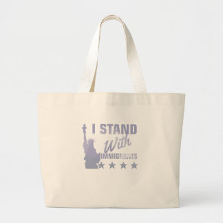 Pro immigration statue of liberty shirt large tote bag
