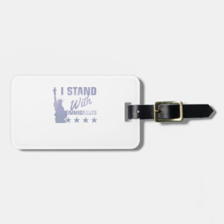 Pro immigration statue of liberty shirt luggage tag