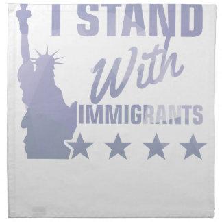 Pro immigration statue of liberty shirt napkin