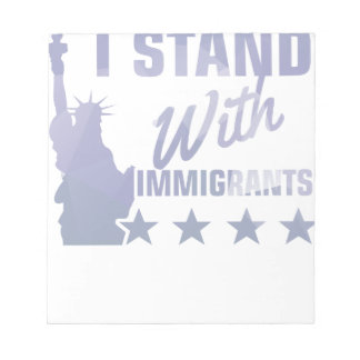 Pro immigration statue of liberty shirt notepad