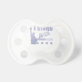 Pro immigration statue of liberty shirt pacifier