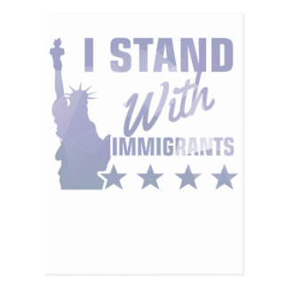 Pro immigration statue of liberty shirt postcard