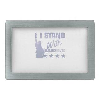 Pro immigration statue of liberty shirt rectangular belt buckle