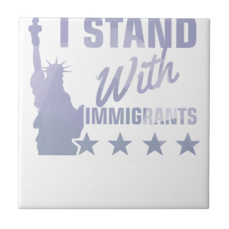 Pro immigration statue of liberty shirt tile